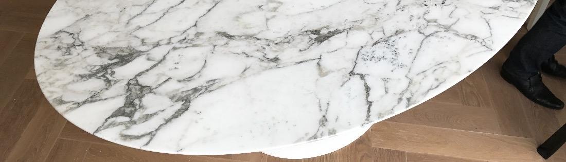 Marmer Tafelblad Rond.Tulp Tafels Van Eero Saarinen Van Een Blad In Elke Maat Rond En