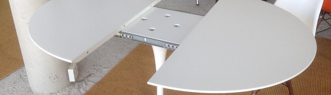 Uitschuifbare tulp tafels, rond en ovaal